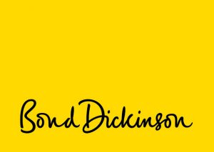 Bond Dickinson on yellow background